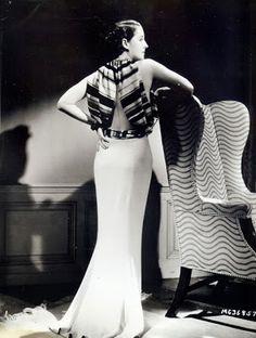 Adrian design for Norma Shearer in Riptide, 1933