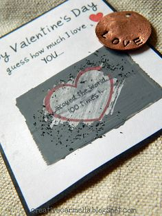 Make your own scratch-off Valentines