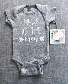 f2135963 New to the Crew Onesie® | Baby Onesie® | Baby Boy Onesie® | Baby Girl  Onesie® | Infant Clothes | Custom Baby Onesie® | Baby Shower Gift