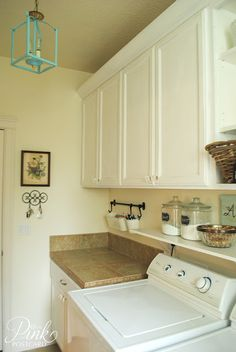 *PinkPostcard.*: Farmhouse laundry room reveal