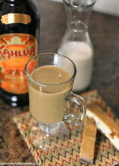Pumpkin spice Kahlua coffee will warm you up when entertaining or just relaxing.