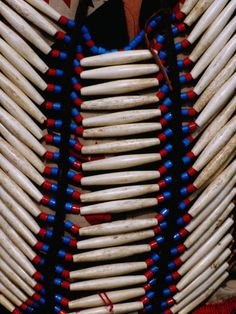 Detail of Beads on Native American Indian Dress, Cherokee, USA