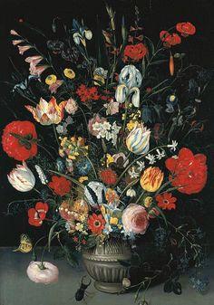 Pieter Binoit    Floral Still Life    17th century