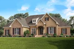 Handsome Split Bedroom Traditional House Plan - 51741HZ | 1st Floor Master Suite, Acadian, Butler Walk-in Pantry, CAD Available, Corner Lot, Den-Office-Library-Study, French Country, PDF, Photo Gallery, Southern, Split Bedrooms, Traditional | Architectural Designs