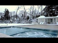 Chicago inground swimming pool with autocover. Inground Pool Covers, Platinum Pools, Pool Builders, Pool Ideas, Swimming Pools, Chicago, Backyard, Touch, Landscape