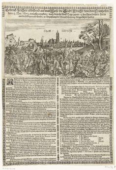 Uittocht van het Franse leger uit Utrecht, 1673, anoniem, 1673