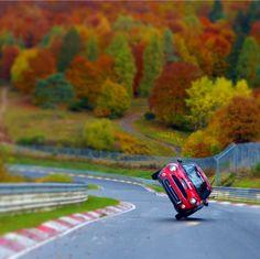 Two wheeling on the Nurburgring