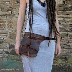 Handmade Leather Belt Pouch Outdoors Festival Pocket Wallet