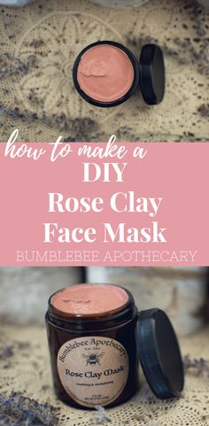How to make a rose clay face mask   DIY face mask for dry skin.