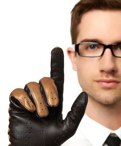 Men's Italian Touchscreen Leather Driving Gloves By Fratelli Orsini | Free USA Shipping at Leather Gloves Online