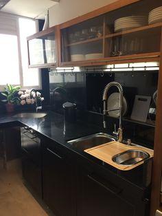 #cozinha #cozinhapreta #cozinhapequena #cozinhatokstok #calhaumida
