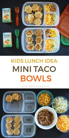 Lunch For The Minis: Mini Taco Bowls – 2019 – Lunch Diy Lunch For The Minis: Mini Taco Bowls 2019 Kids Lunch: Mini Taco Bowls The post Lunch For The Minis: Mini Taco Bowls 2019 appeared first on Lunch Diy. Kids Packed Lunch, Kids Lunch For School, Healthy Lunches For Kids, Lunch Snacks, Clean Eating Snacks, Kids Meals, Cold Lunch Ideas For Kids, Healthy Snacks, Toddler Meals