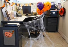 Looking For A Way To Spook Up Your Cubicle This Halloween? Find Fun Decorating  Ideas