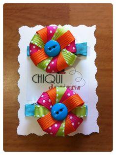 Love this design Making Hair Bows, Diy Hair Bows, Diy Bow, Bow Hair Clips, Ribbon Art, Ribbon Crafts, Ribbon Bows, Hair Ribbons, Ribbon Sculpture