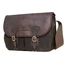 Barbour Waxed Cotton Bag, Brown , One size