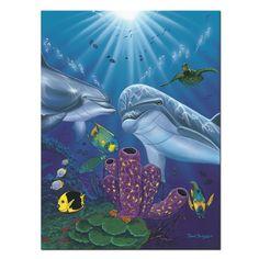 David Dunleavy 'Dolphin Reef' Canvas Wall Art