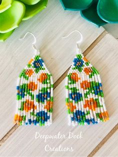 beaded earrings how to make Brick Stitch Earrings, Seed Bead Earrings, Etsy Earrings, Hoop Earrings, Fringe Earrings, Bead Crochet Patterns, Beading Patterns, Bead Embroidery Jewelry, Beaded Embroidery