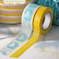 Websters Pages - New Beginnings Collection - Washi Tape Set at Scrapbook.com $4.99