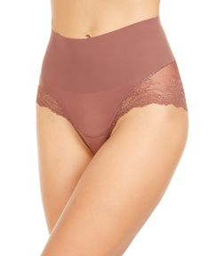 Spanx Women's Undie-tectable Lace Hi-Hipster Panty - Cocoa Rose Crssdye Hipster Underwear, Vintage Underwear, Lingerie Editorial, Diy Fashion No Sew, Pretty Lingerie, Spanx, Shapewear, Women Lingerie, Lace