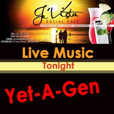 Now who doesn't like the live sounds of Yet-A-Gen? Jeffrey's Bay is looking forward to a fantastic evening of live music tonight as we gear up for the holidays to begin.