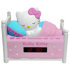 Reloj despertador de hello kitty