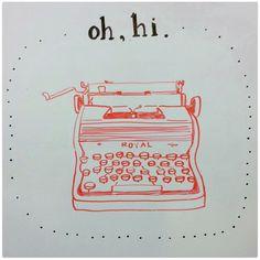 typewriter for wall! Planner Dashboard, Send A Card, Vintage Typewriters, Vintage Beauty, Illustration Art, Illustrations, Doodles, Bullet Journal, Stickers