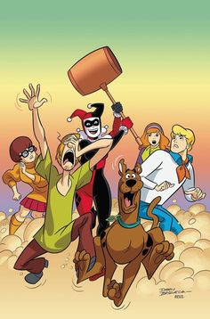 """Scooby-Doo Team-Up It's hard enough for Scooby and the gang to crack the mystery of a Dickensian Yuletide ghost…but it's harder with """"help"""" from Mystery, Inc.'s newest member: Harley Quinn! Cartoon Shows, Cartoon Characters, Desenho Scooby Doo, Lego Dc Comics, Scooby Doo Images, Joker Y Harley Quinn, Scooby Doo Mystery Incorporated, Classic Cartoons, Anime"""