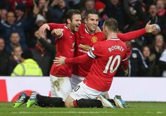 Deadly European trio: Juan Mata (Spanish). Robin Van Persie (Dutch). Wayne Rooney (English).