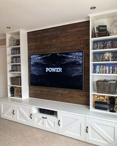 The 50+ Best Entertainment Center Ideas - Home and Design - Next Luxury Built In Shelves Living Room, Basement Living Rooms, Living Room Tv, Home And Living, Tv Stand Ideas For Living Room, Living Room Entertainment Center, Floating Entertainment Center, Entertainment Center Wall Unit, Entertainment Tonight