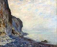 CLAUDE MONET Falaise, circa. 1882