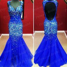 stunning sapphire dress