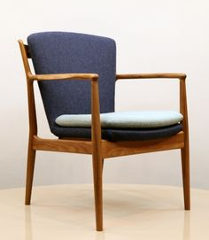 Finn Juhl; #FJ51 Oak Armchair Chair for the Trusteeship Council Chamber at the United Nations Headquarters, c1951.