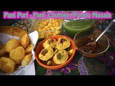 Pani Puri - Chutney , Pani, Potato masala recipes - Dosatopizza Potato Masala Recipe, Chutney Recipes, Potatoes, Chicken, Meat, Breakfast, Food, Breakfast Cafe, Potato