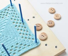 LillaBjörn's Crochet World: Why and how to block crochet and knitted projects?...
