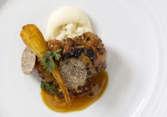 Veal Sweetbread with Parsnip and Truffle.