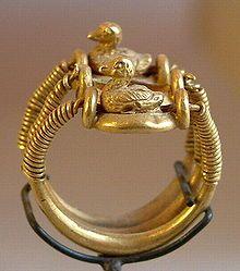 Bague au canard au nom de Ramsès IV