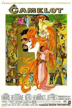 """Affiche du film """"Camelot"""" (1967) de Joshua Logan avec Richard Harris et Vanessa Redgrave"""