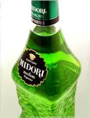 Midori, green, bottle