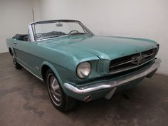 1964 ½ Ford Mustang Convertible – with a V8 motor. This comes in green with black interior and has had the same elderly lady owner since new. It is equipped with automatic transmission and a power top and is a mechanically sound vehicle. For $15,750