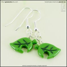 Animal Crossing Leaf Drop Earrings
