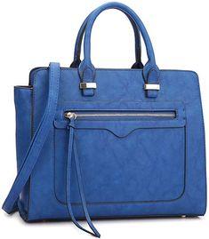 479c538a4839 Amazon.com  Dasein Women Vegan Leather Handbag Designer Purse Satchel Bag  with Crossbody Strap