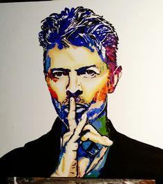 Meu quadro de David Bowie pintura em óleo sobre tela 70 x 70 cm . @rosedaluz #rosedaluz no instagram.