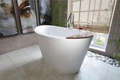 Aquatica True Ofuro Freestanding Stone Japanese Soaking Bathtub - Bathtub - Gorgeous Tub
