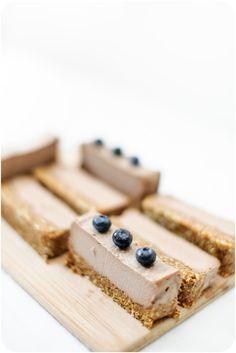 raw cacao chaga mousse cake