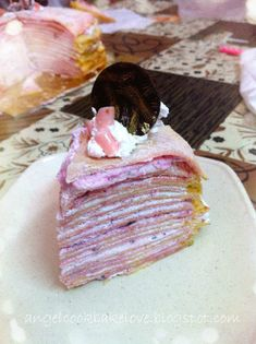 Cook.Bake.Love: Blueberry Mille Crêpe Cake 蓝莓法式千层蛋糕 Crepe Cake, Crepe Recipes, Mille Crepe, Cookie Frosting, Food Decoration, Sweet Bread, Beautiful Cakes, Cake Cookies, Oreo