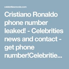 How to get a phone number of a celebrity - Quora