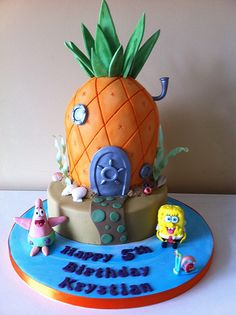 Spongebob Squarepants Cake for Christian