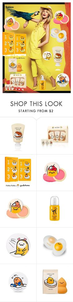 """""""Contest"""" by annbs ❤ liked on Polyvore featuring beauty, Holika Holika, yellow and lazyegg"""