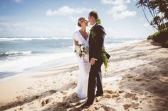 Hawaii beach wedding | Carly Brown Photography and Moana Events | | Tips and advice for elopements | see more on: http://www.modernelopement.com/