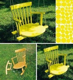 DIY : Rocking Chair Tree Swing
